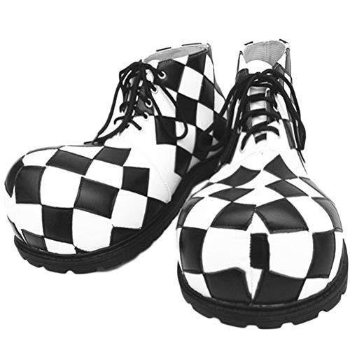 XINXIN Bianco E Nero Esagerato Divertente Grande Testa Spettacolo di Magia Scarpe Halloween Cosplay Spettacolo Divertente Puntelli