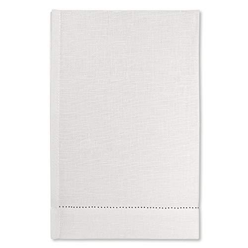 Cuore di lino - Toalla de Puro Lino 100% Ajour Blanco Crema