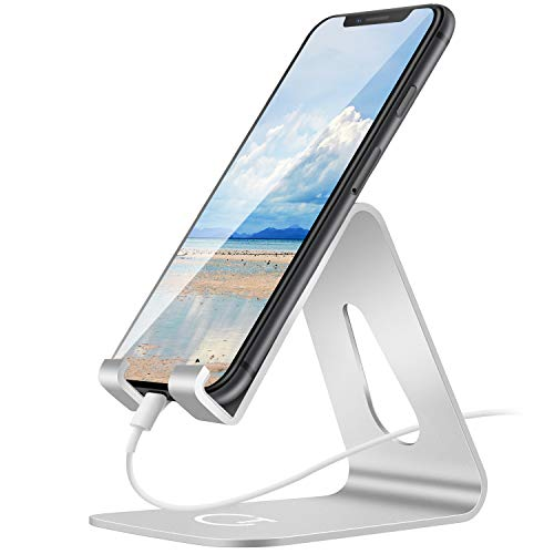 Supporto Telefono, Gritin Supporto Dock per Phone in Alluminio - Supporto Scrivania Cellulare
