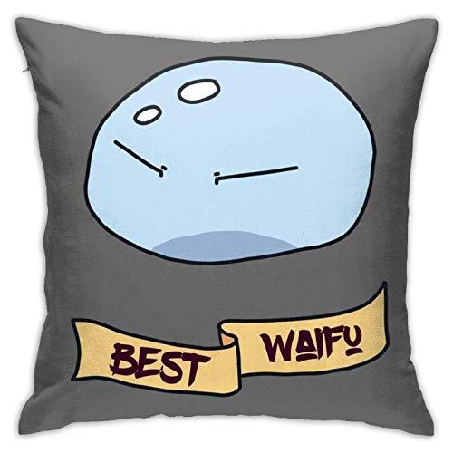 Best Waifu Hammer - Fundas de almohada cuadradas para dormitorio, sofá, decoración del hogar, 45,7 x 45,7 cm