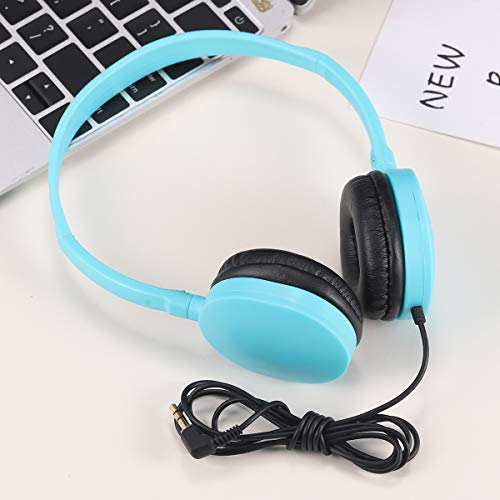 Kids Headphones Bulk 5 Pack Multi Color for School Classroom Students Children Teen Boys Girls and Adults (Mixed)