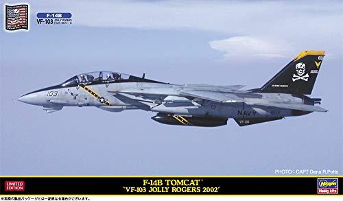 ハセガワ 1/72 アメリカ海軍 F-14B トムキャット VF-103 ジョリー ロジャース (ワッペン付) プラモデル SP454