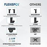 FLEXISPOT E5B Höhenverstellbarer Schreibtisch Elektrisch Höhenverstellbares Tischgestell, 3-Fach-Teleskop, Passt für Alle Gängigen Tischplatten. mit Memory-Steuerung und Softstart/-Stop - 4