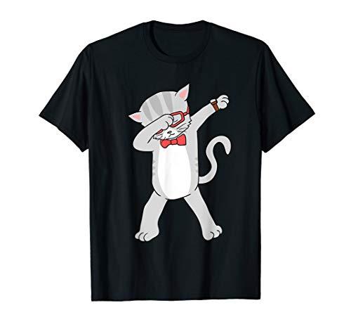Dabbing Cat T-Shirt Funny Dab Gift Cat Tee T-Shirt
