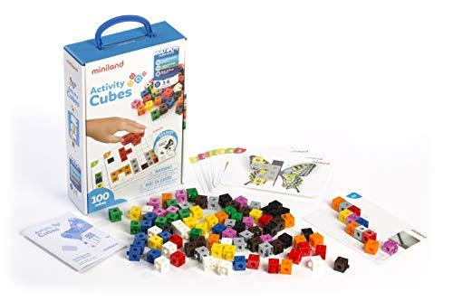 Miniland 95203 Lot de 100 Cubes d'activité Multicolore