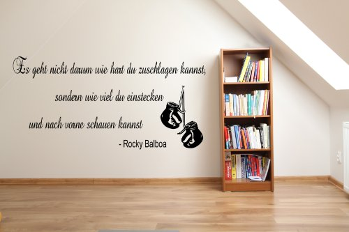 Rocky balboa inspirativ Turnhalle Boxen Wandaufkleber Mädchen Schlafzimmer Vinyl Aufkleber Grafik DE4 (Schwarz (Black))