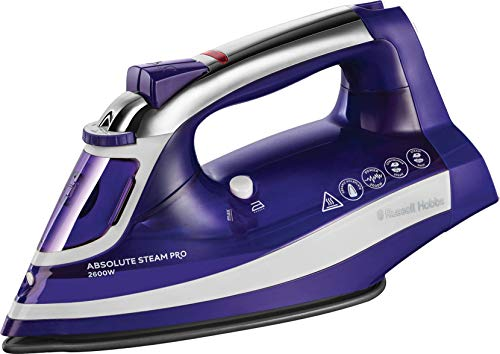 Russell Hobbs 25910 Absolute Steam Iron with 160 gram Steam Shot, Anti-Calc and Self Clean Fucntions, 2600 W