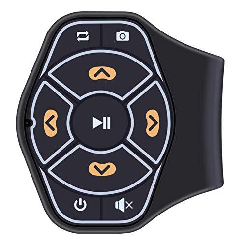 Bouton de Volant de Voiture Bluetooth Media sans Fil Télécommande Musique Audio Support Guidon