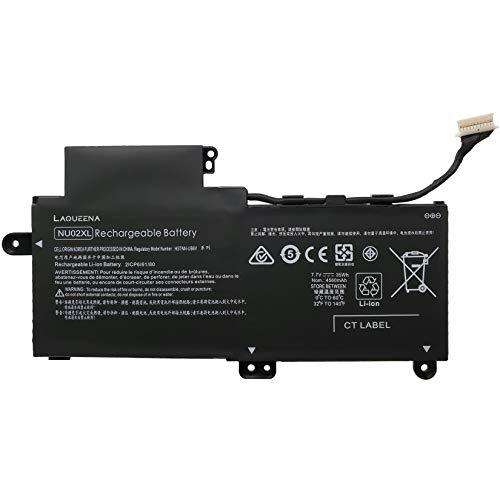 Laqueena NU02XL Laptop Replacement Battery for HP Pavillion X360 M1 M1-u001dx Series 843535-541 844200-850 HSTNN-UB6U HSTNN-UB6V TPN-W117 35WH/4350MAH 2-Cell 7.7V