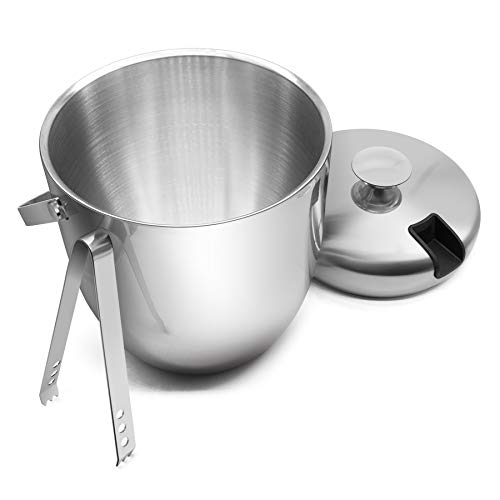 Forturn Candy FC Double Wall Ice Bucket with Tong 3 Litre/0.8 GAL Stainless Steel