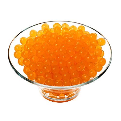 Trimming Shop Agua Bolas Silicona Orbs para Planta Jarrón Relleno, Decoración, Centros Mesa, 500pcs - Naranja