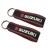 Suzuki Rojo cordón Llavero Doble Cara (1 Pieza)