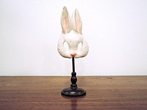 ラビットマスク うさぎ 兔 置物 仮面 かわいい おしゃれ オブジェ 大人 アンティーク クラシック レトロ インテリア雑貨