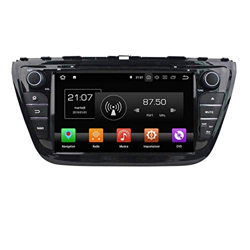 8 Pollici Touchscreen Lettore DVD Android 8.0 Autoradio per Suzuki SX4 S-Cross(2014-2020), Navigazione GPS DAB+ Radio Bluetooth