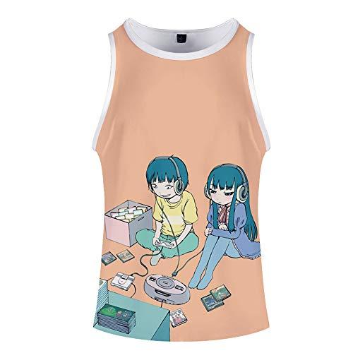 High Score Girl Camiseta Camiseta de la Camiseta de Las Tapas de Moda Hombre Undershirt Camisa y cómodo de Las Mujeres del Estilo Ocasional Salvaje Moda Deportes Unisex (Color : A09, Size : M)