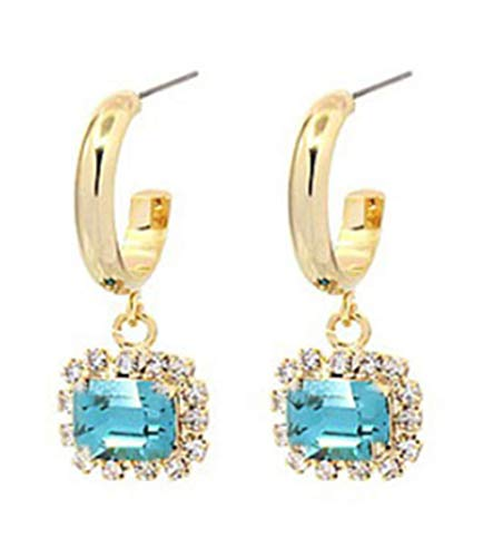 Pendientes Ookmngft para mujer Pendientes nuevos Estilo de moda Uñas de oreja Pin de plata 6 s semicírculo quad espárragos