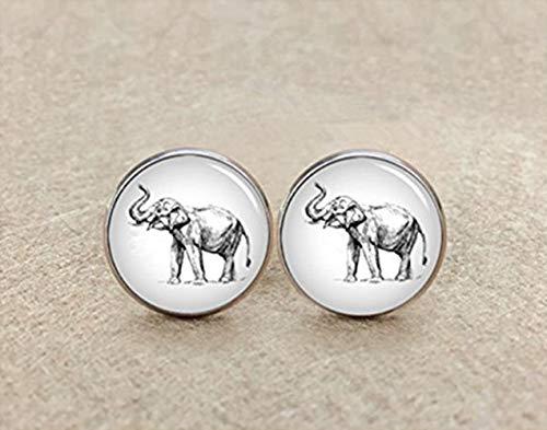 Éléphant indien Boutons de manchette, animal Loves, accessoire pour homme