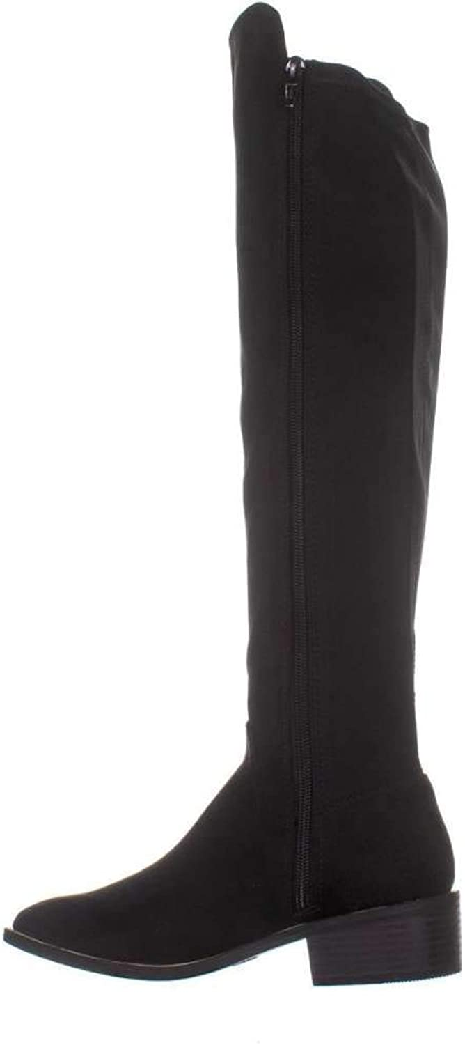 Material Girl Womens Darcell Round Toe Over Knee Riding Boots