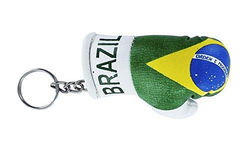 Schlüsselanhänger Schlüsselanhänger Brasilien-Fahne Brasilien brazil flag Boxhandschuh