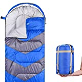 Abco Tech Sleeping Bag – Envelope Lightweight Portable, Waterproof, Comfort with Compression Sack - Great...