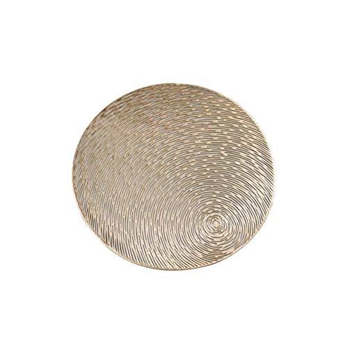 LZFLZ Runde PVC Tischset Hitzebeständige Abriebfeste rutschfeste Waschbare Tischset for Urlaub Dekoration (Color : Gold)