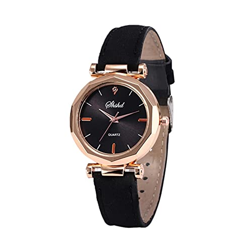MUTYLRR Reloj de Hombre Mujeres Watch Rhinestone Fashion Exquisite Women Reloj Casual Reloj Casual de Lujo Analógico Cristal Reloj de Pulsera Reloj de Pulsera Reloj de Mujer (Color : C)