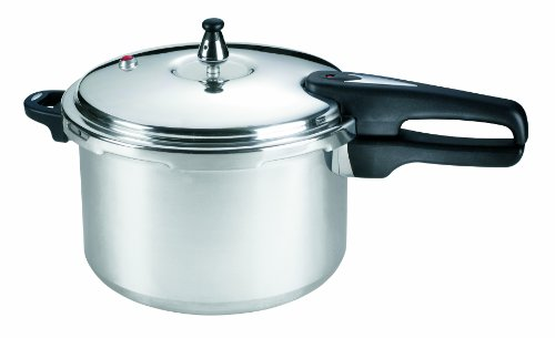 Mirro 92180A Polished Aluminum  10-PSI Pressure Cooker Cookware, 8-Quart, Silver - 7114000231