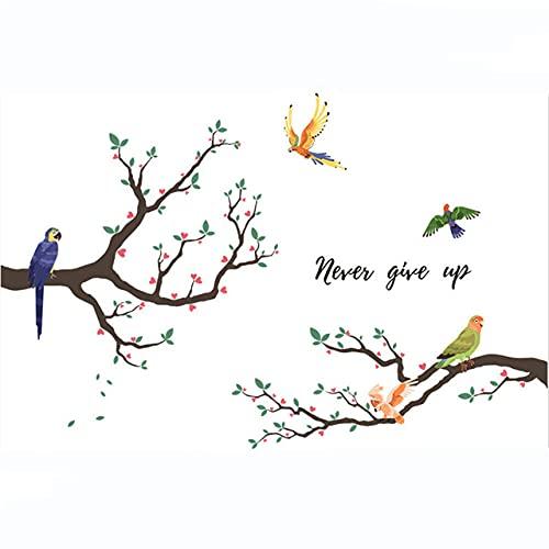 Ramas Pájaros Pegatinas Decorativas De Pared Decoración Del Hogar Para Sala De Estar Pegatinas Vinilo En La Pared Accesorios Regalo