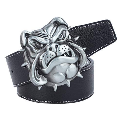 FHCGPD Lederen pin gesp riem unisex zilver matador mode klassieke retro wilde lengte kan worden aangepast 120cm