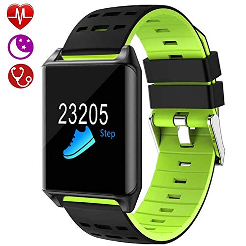 Fitness Tracker, Smart Watch-Hartslagmeter, Smart Bracelet Activity Tracker Bluetooth-Stappenteller Slaapmonitor Voor Ios Android-Telefoon,Green