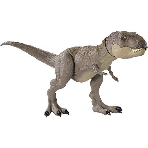 Jurassic World Tirannosauro Rex Morso Estremo, Extra Large Lungo 50 cm e Alto 20 cm, Giocattolo per Bambini 3+ Anni, GLC12