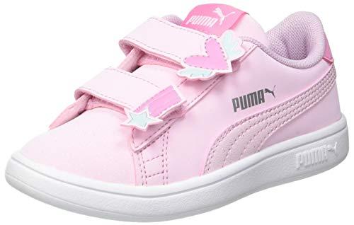 PUMA Smash V2 Unicorn V PS, Scarpe da Ginnastica, Pink Lady Pink Lady, 34 EU
