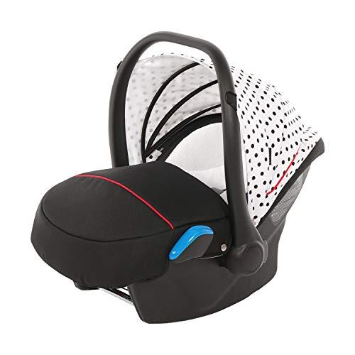 knorr-baby 33701-1 Babyschale Milan zu Voletto Tupfen, weiß-schwarz
