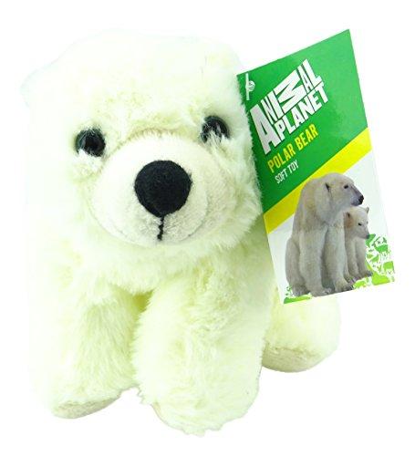 Animal Planet Arctic Animals - Jouet en Peluche Doux à l'ours Polaire de 18 cm