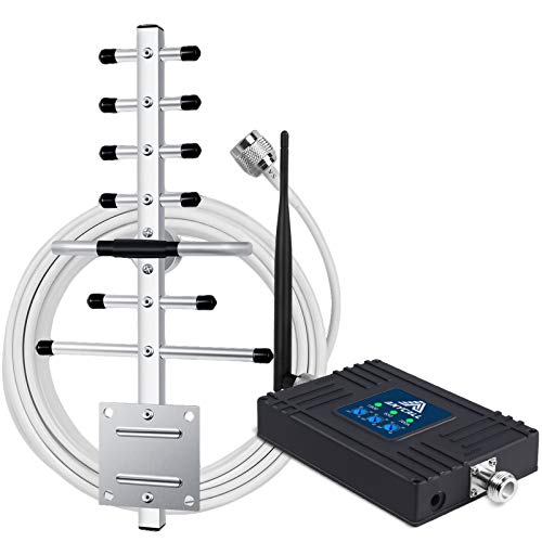 Band 2 5 12 17 Cell Phone Booster Mobile Signal Booster 2G 3G 4G LTE Extender for Home AT&T T-Mobile Verizon Voice and Data Repeater Cellular Service Amplifier -Coverage up to 2000 Sq.ft-FCC Approved