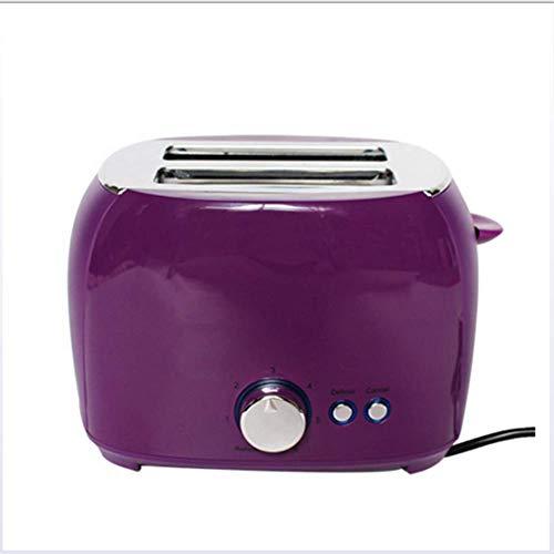 QHAI Elektrische Toaster, automatische Brotbackautomaten Toast Sandwich Grill Ofen Maker 2 Scheiben Haushalt für Frühstück,Lila