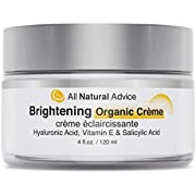 All Natural Advice Brightening Cream with Hyaluronic Acid, Vitamin E and Salicylic Acid (4 fl.oz. / 120 ml)