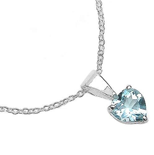Bijoux Schmidt-Collier Coeur Bleu Topaze 925-silver-0, 92 carats