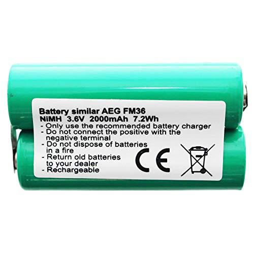 Akku passend für AEG FM36 Akku Elektrolux 3,6 Volt AA 2000mAh
