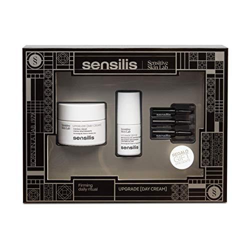 Sensilis Upgrade - Kit de Belleza con Crema de Día Reafirmante (50 ml) + Contorno de Ojos (15 ml) + Ampollas Faciales (3 X 1,5 ml)