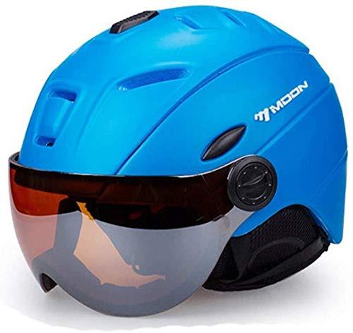 Helm Zon vizier skihelm, afneembare sneeuw masker anti-mist en anti-UV uitgebreide bril schild lichtgewicht volwassen mannen en vrouwen 004-L