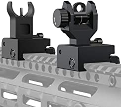 Nelahol Flip Up Sights Iron Sights Low Profile A2 Front Sight + Backup Rear Sight Compatible Sights