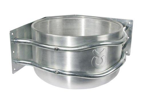 Kerbl 32496 Futtertrog Aluminium, ca. 18 l, zur Eckmontage, mit Ablauf