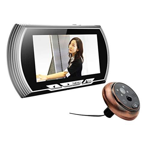 YSAYK 4.3 Pulgadas HD Visor De Mirilla De Puerta Inteligente Grabación De Video Visor De Puerta Cámara De Visión Nocturna Sensor De Movimiento PIR Timbre Sin Interferencias
