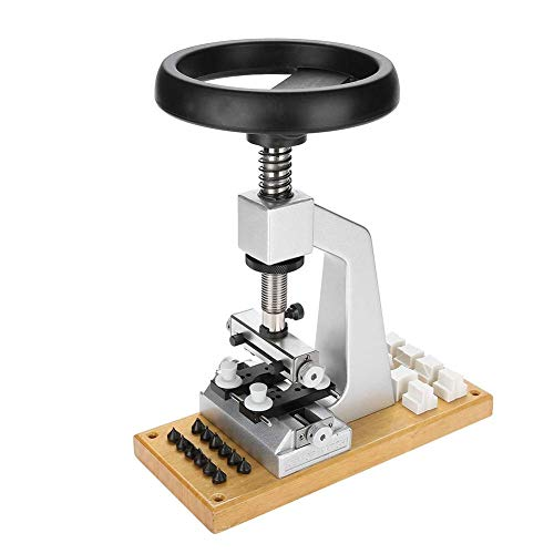 Reloj de Prensa Sistema de herramienta, reloj removedor de la herramienta Volver, reloj detrás encajona el tornillo de banco Oyster estilo reloj con base de metal abridor de Closer adecuados para la