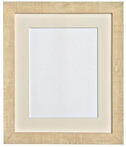 FRAMES BY POST 8 x 8 cm, diepte korrel fotolijst met passe-partout voor 5 x 13 cm fotogrootte), lichtbruin