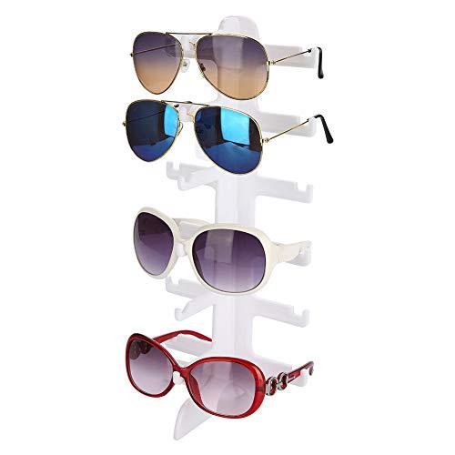 Soporte de Exhibición de Gafas, 6 pares Estante de Gafas Organizador para Gafas de Sol Almacenamiento de Gafas Estante de Exhibición de los Vidrios