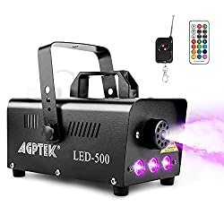 top rated Smoke generator, AGPTEK fog machine with 13 color LED light effect, 500 W and 2000 ccm fog 2021