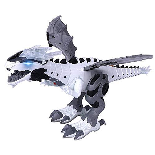 lesgos Elektrische interaktive Dinosaurier Spielzeug: Reden und Walking Feuer Drachen & Dinosaurier Für Spiele, Kinder Spielzeug Weihnachten Geschenk(White)
