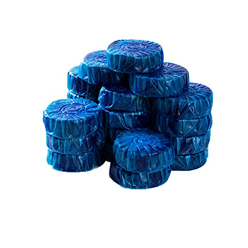 Amuzocity Paquete De 20 Tabletas Azules De Cisterna Para Inodoro, Lavabo Al Ras, Artículos De Limpieza Para Baño